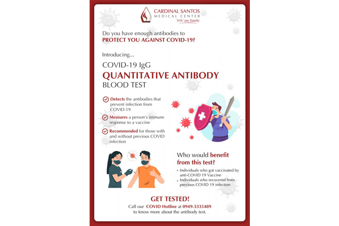 Determine whether you have enough antibodies to fight against COVID-19!